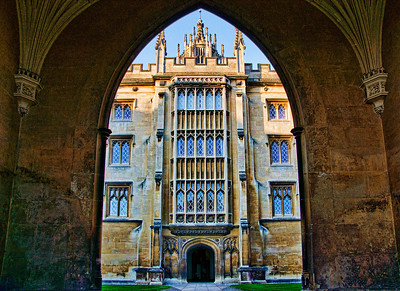 St.John's college through it's arch entrance