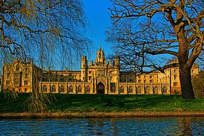 St.John's college - looks like Hogwarts along with it's magic trees