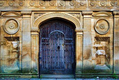The ornate entrance to the Senate House