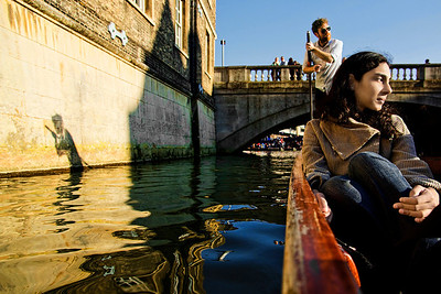 Smita and I go punting on River Cam