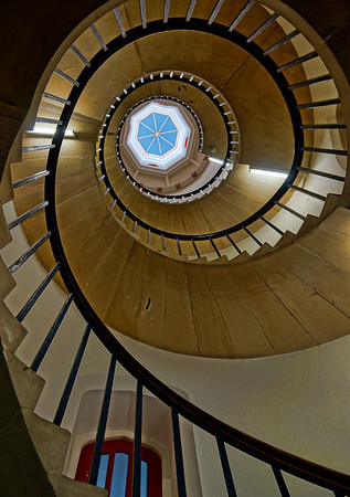 A rather modern spiral staircase leading upto students quarters at St.John's College