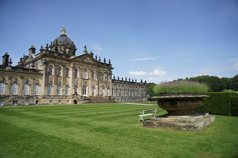 Castle Howard - lived in by the Howard family for 300 years still is.