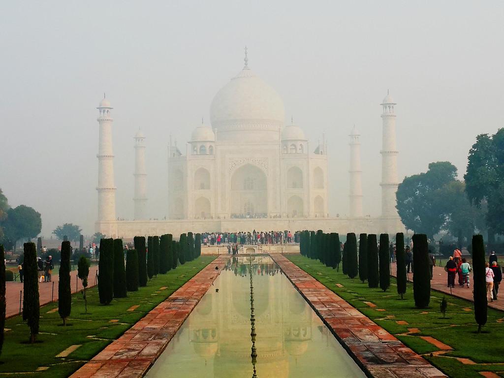 The magnificent Taj Mahal.