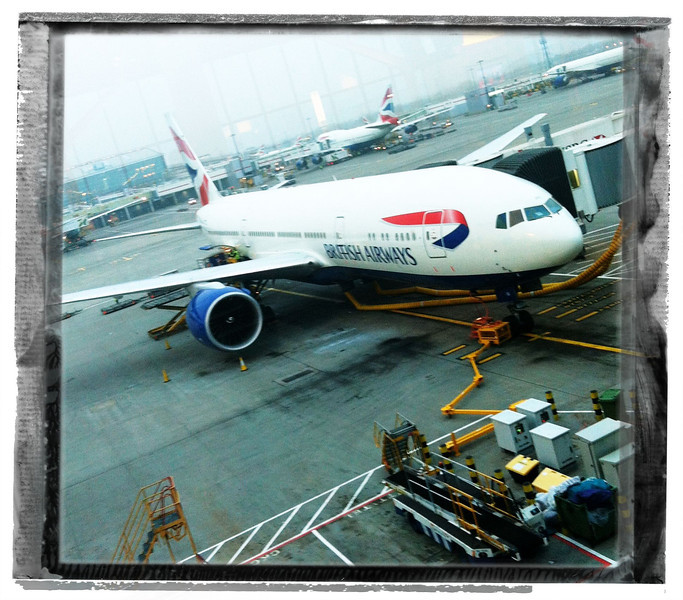 A layover at Heathrow. Typical dreary weather.