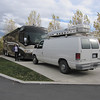 We arrived safely in Park City UT on 10/16/2011 at 4pm.  Pictured here is the entire rig.  Bus, van (motorcycles and mountains bikes in the van) and Jeannie.  We'll be here until May 2012.