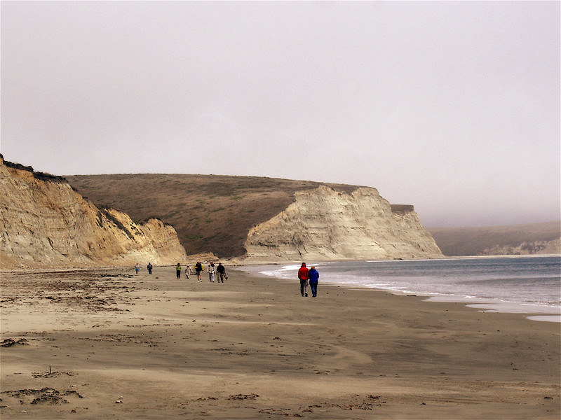 Drake apparently liked this beach because it's white cliffs reminded him of Dover back in England.