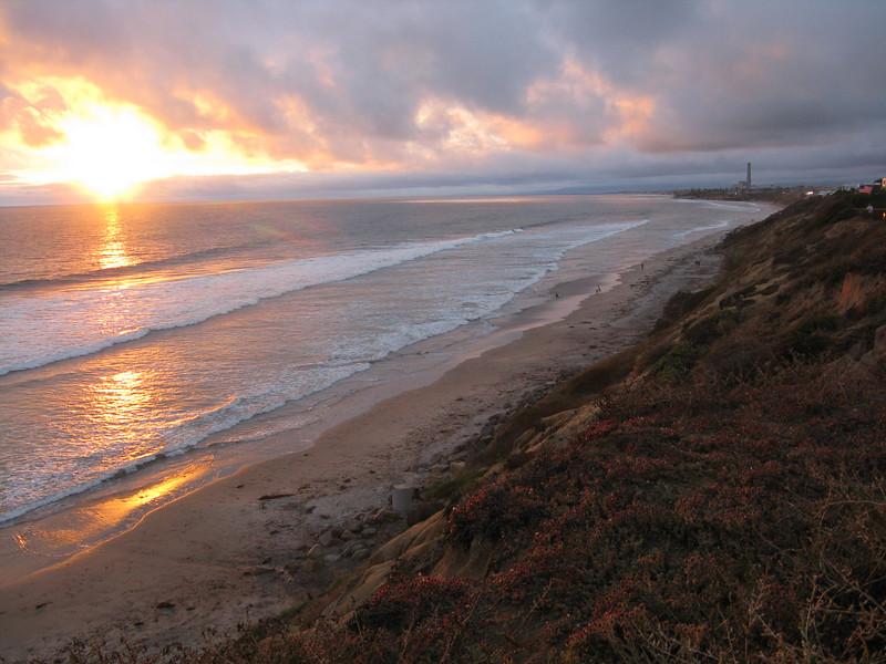 Sunset at South Carlsbad Beach.