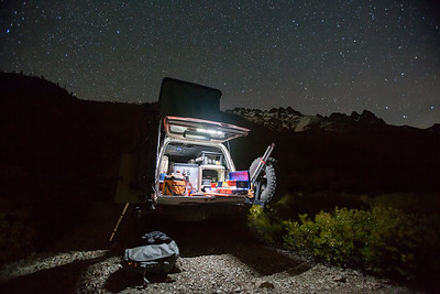 Camping in the Sierra Buttes area.