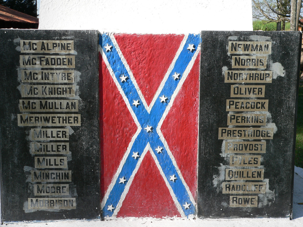 More family names. Included is the name of the McNight family, one of whose descendents would write the first comprehensive account of the Os Confederados in Portuguese.
