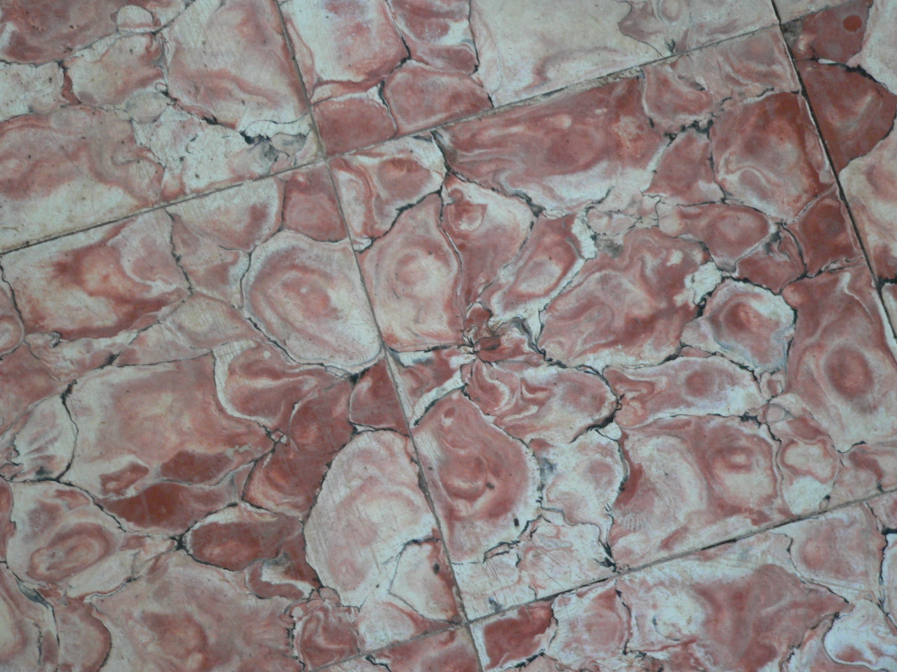 The chapel floor tiles.
