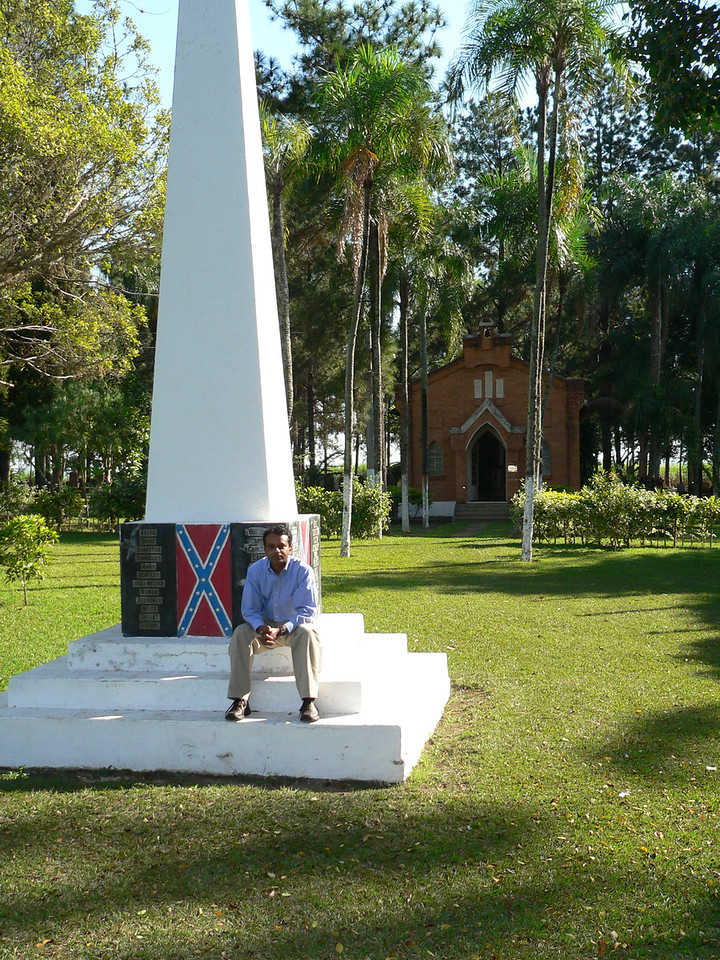 Obelisk and chapel and me.