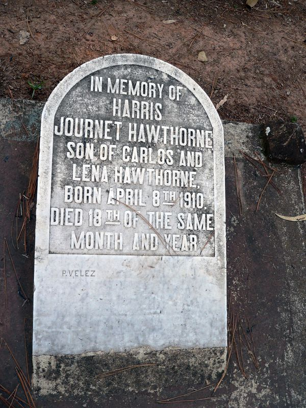 Only 10 days on earth for Harris Journet Hawthorne. <br /> Born: 8.4.1910<br /> Died: 18.4.1910