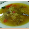 Canary style chicken noodle soup - Sopa de pollo.