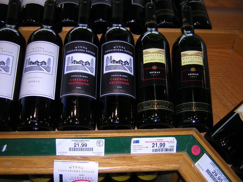 Cheap Aussie wines at Whistler