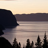 Sunset over the Saguenay in the neighborhood of Anse St Jean