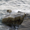 Basalt rock near balancing rock on long island (Novascotia)