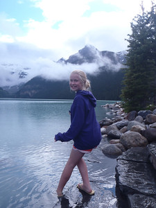 Testing the waters at Lake Louise