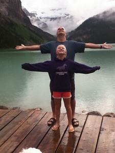 Rainy day in Lake Louise