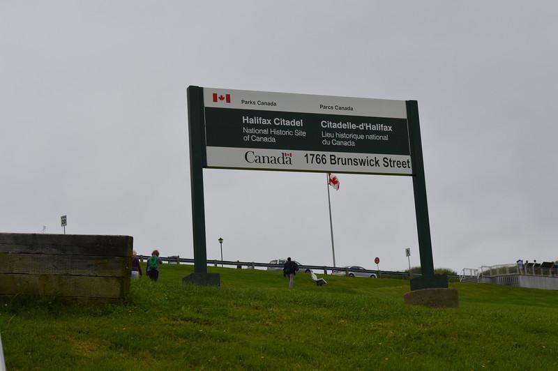Canada 2013 - July 10 - Halifax - The Citadel Sign