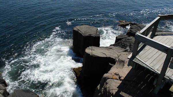 Canada 2013 - July 13 - Digby Neck - Balancing Rock trail video #1