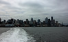 View of Downtown Seattle and Central Waterfront  from the Victoria Clipper