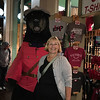 """Wild Bear in """"dress ups"""" Downtown Victoria with Victoria !"""