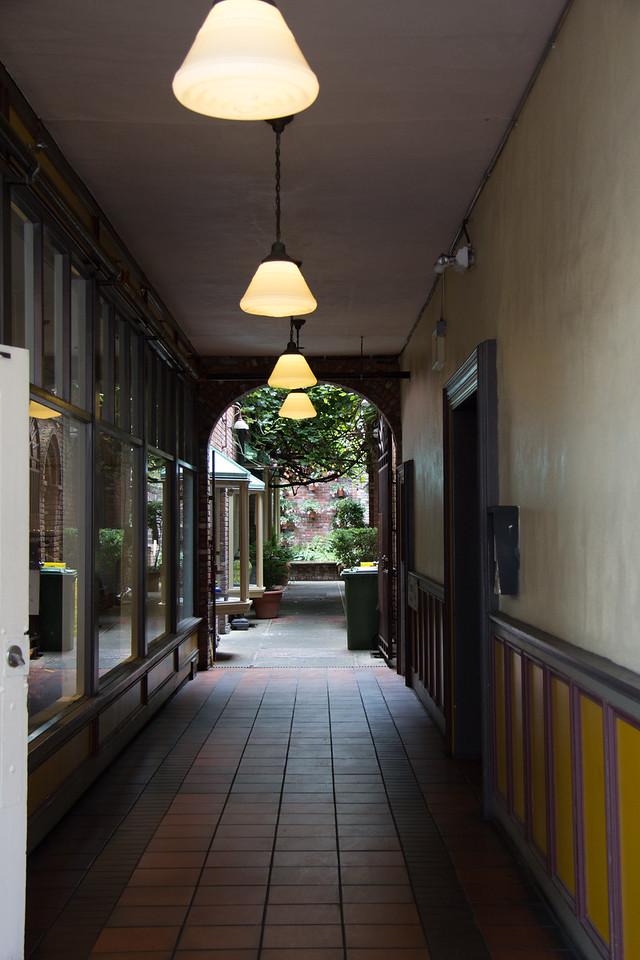 Classic old hallway.