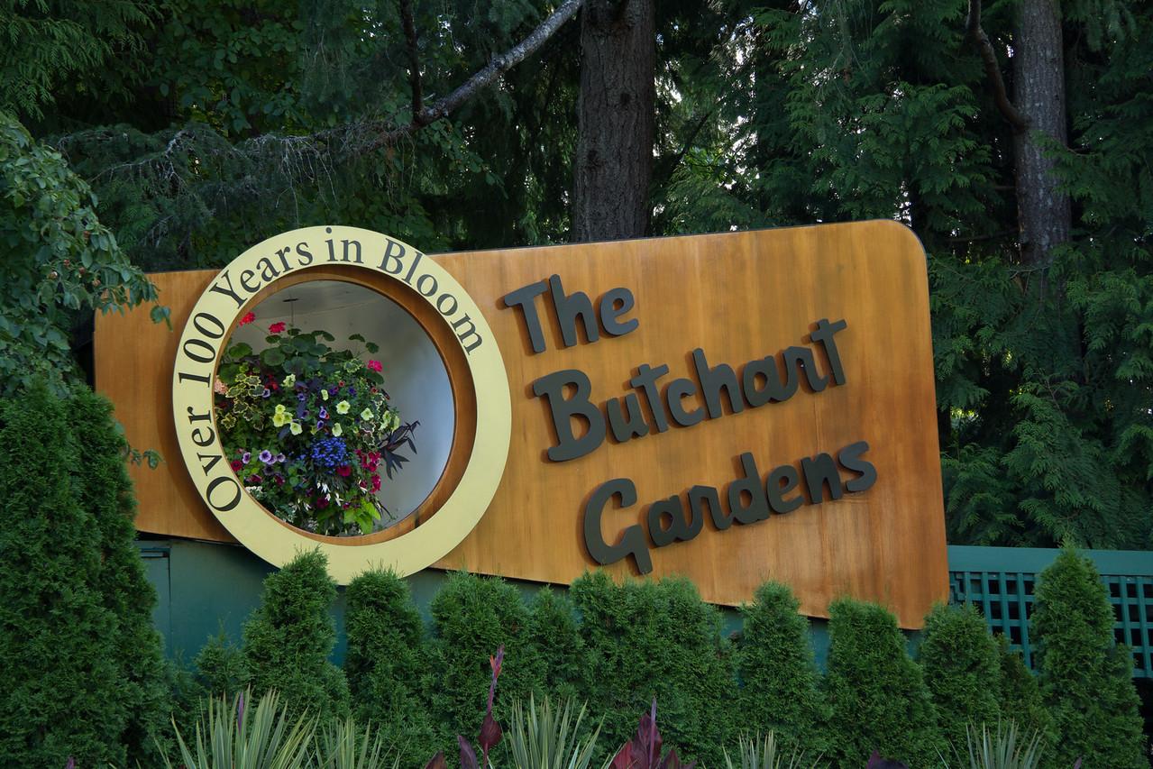 Sign at Butchart gardens