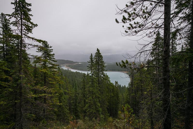 Grassi Lakes Hike, in the rain.