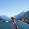 Jan enjoying Waterton National Park, Alberta, Canada