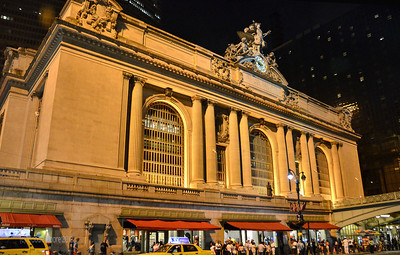 Grand Central Terminal and entrance to subway system.