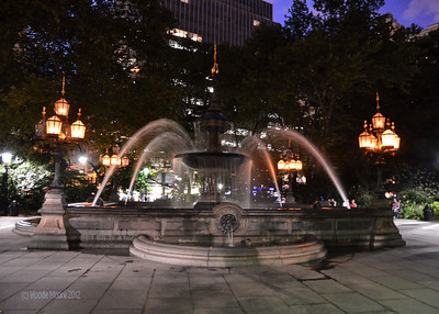 A lovely fountain in one of the many parks near Washington Square.