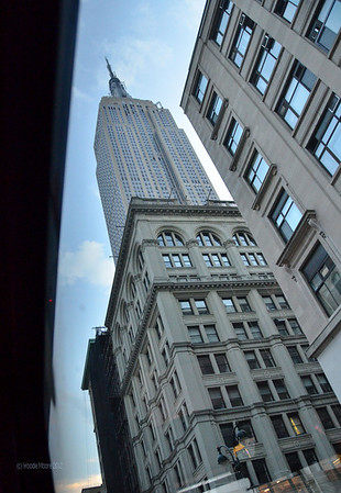 The Empire State Building as seen from the tour bus.