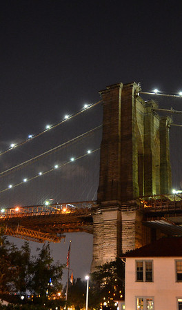 The Brooklyn Bridge from the Brooklyn side.