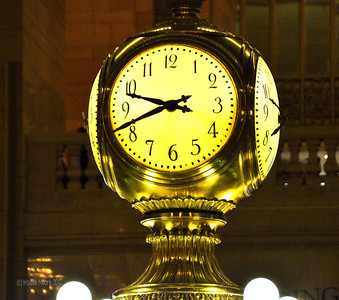 The iconic clock in Grand Central Terminal.