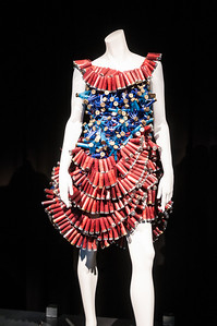 dress made of recycled shotgun shells