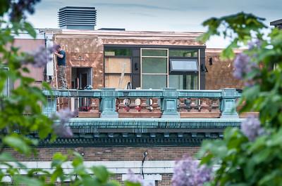 Copper balcony!