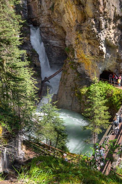 Visitors at Lower falls