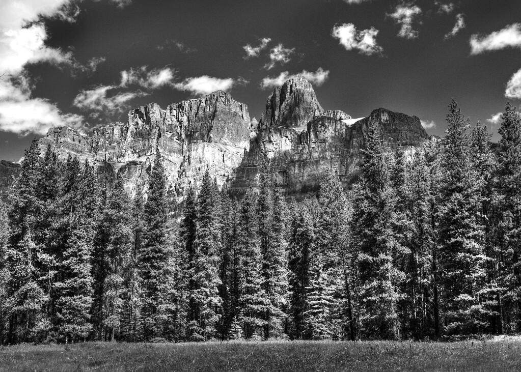 Castle Mountain B&W