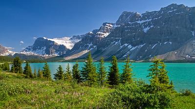 Bow Lake, Crowfoot Mountain