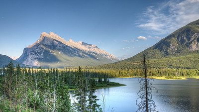 Mt. Rundle from Vermillion Lakes