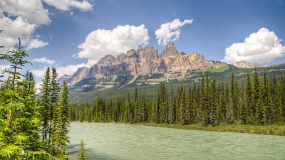 Castle Mountain, Bow River, Banff
