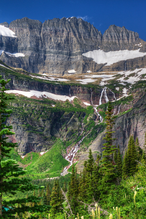 Waterfall Grinell glacier