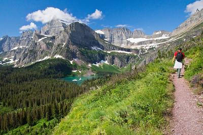 Grinell Glacier Lake hike