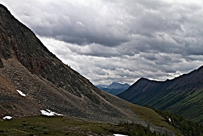 Stormy clouds Ptarmigan Cirque outside Calgary
