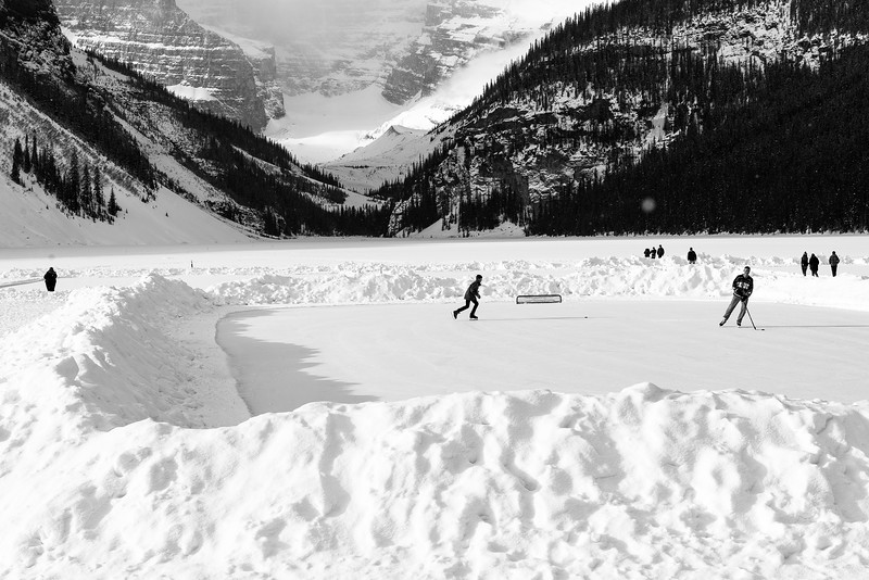 Fun and Games on Lake Louise
