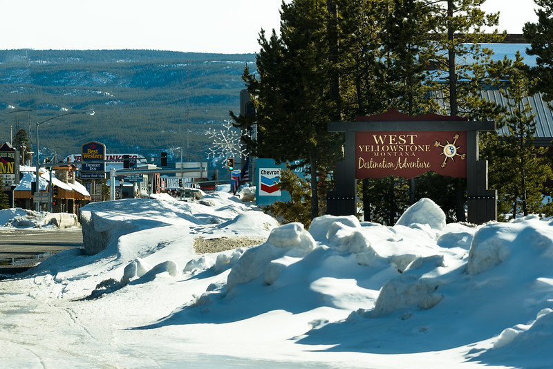 Charming town of West Yellowstone