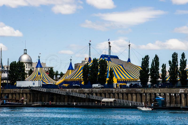 Cirque de Soliel tent, Montreal Waterfront.