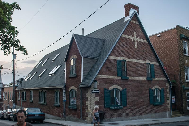 A squate chapel building, upper Quebec City.