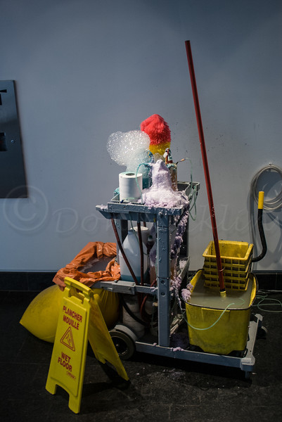 The Janitor Has Gone to Lunch, Art installation by Jean-Pierre Gauthier.